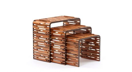 Brazilian Tables Made From Scraps of Wood