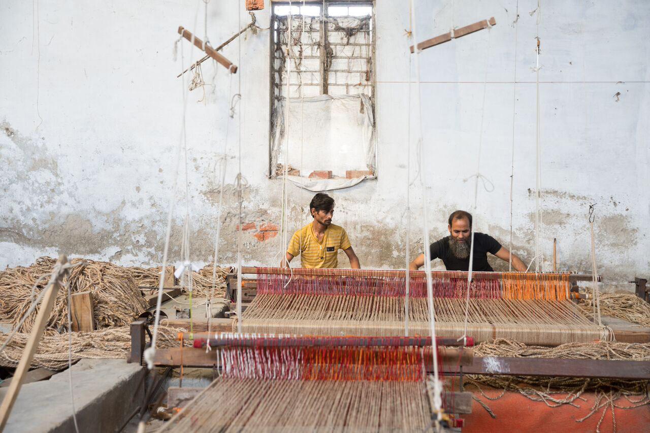 process loomed making rugs milk rug the of design beautiful art hand loloi