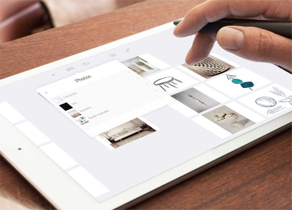 iPad-Adonit Forge-app