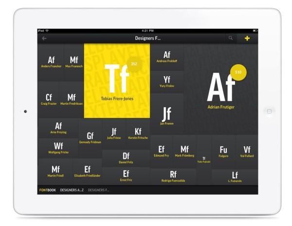 iPad-Fontbook
