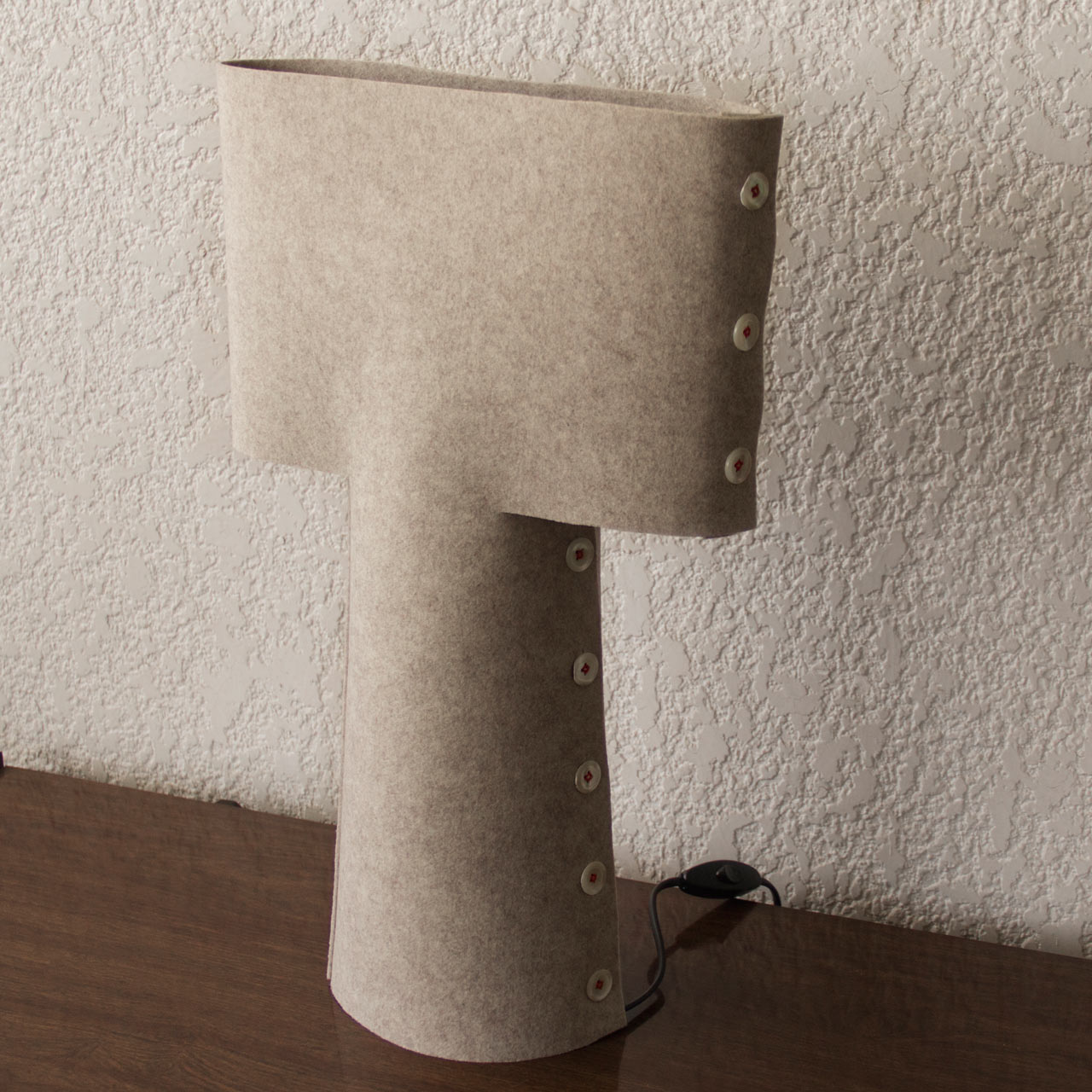 A Lamp Made Entirely at a Tailor's Shop