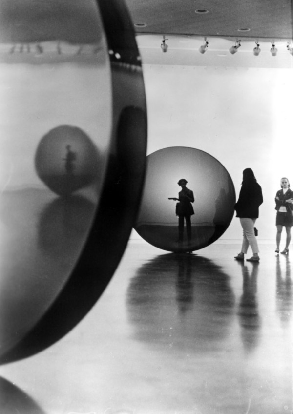 Installation view: De Wain Valentine: Recent Sculpture, Pasadena Art Museum, Pasadena, CA, 1970
