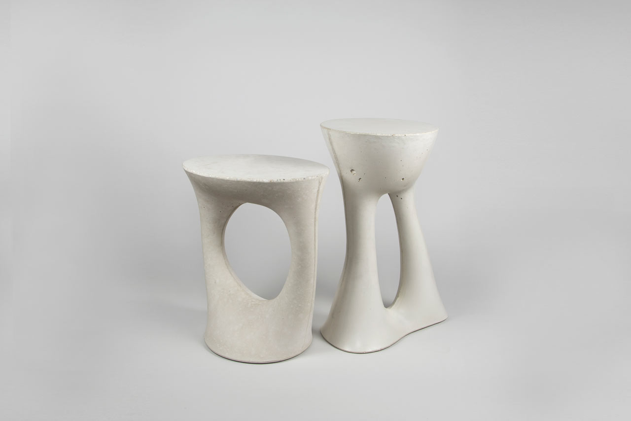 Sculptural Concrete Side Tables from Souda