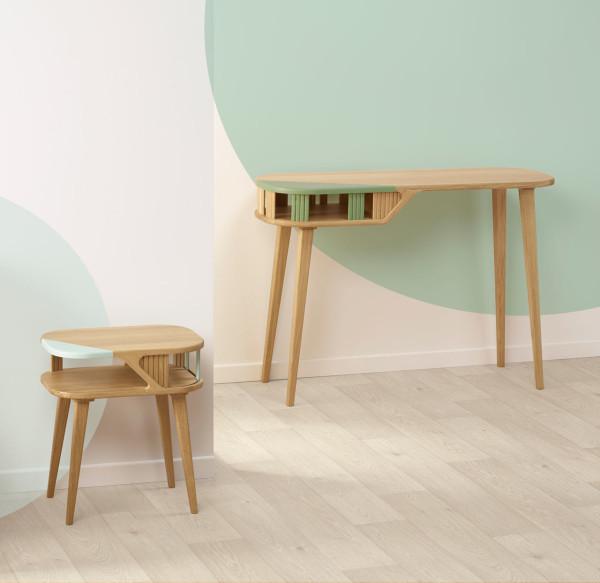 L: Latitude Side Table  R: Latitude Console Desk