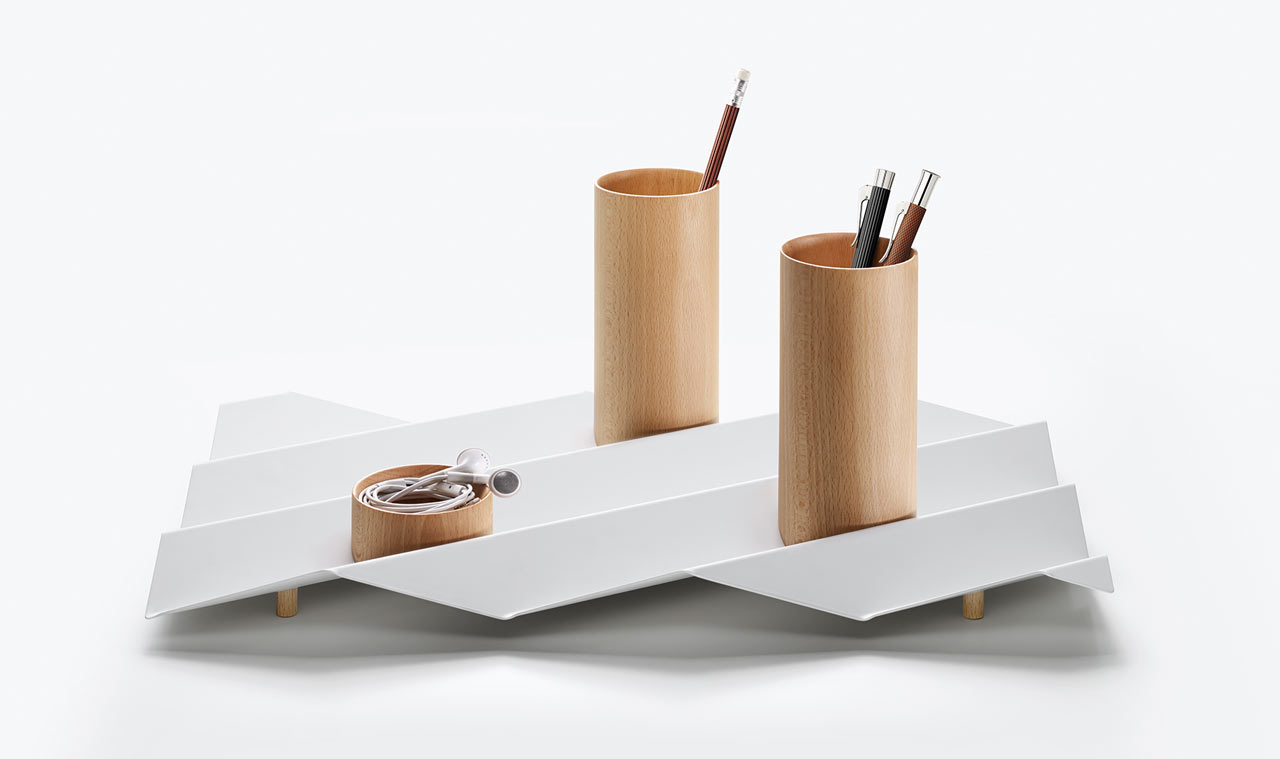 Limited edition desk accessories with unexpected shapes for Modern office decor accessories