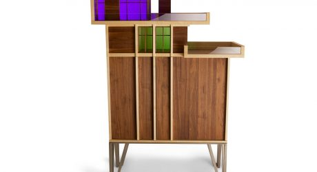 Cabinet that References Mid-Century Modern Architecture