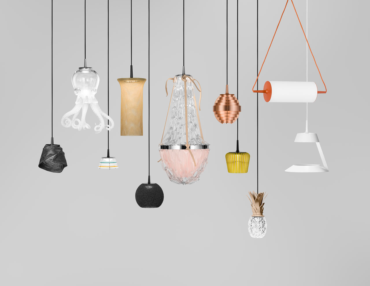 Lamps Design pendant light engine creates multiple lamps - design milk
