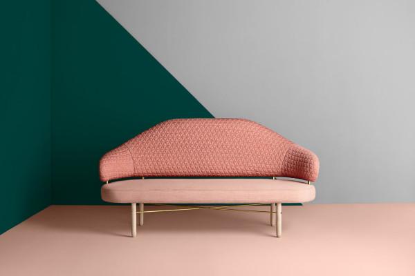 A Curvy Sofa Reminiscent of a Grand Piano
