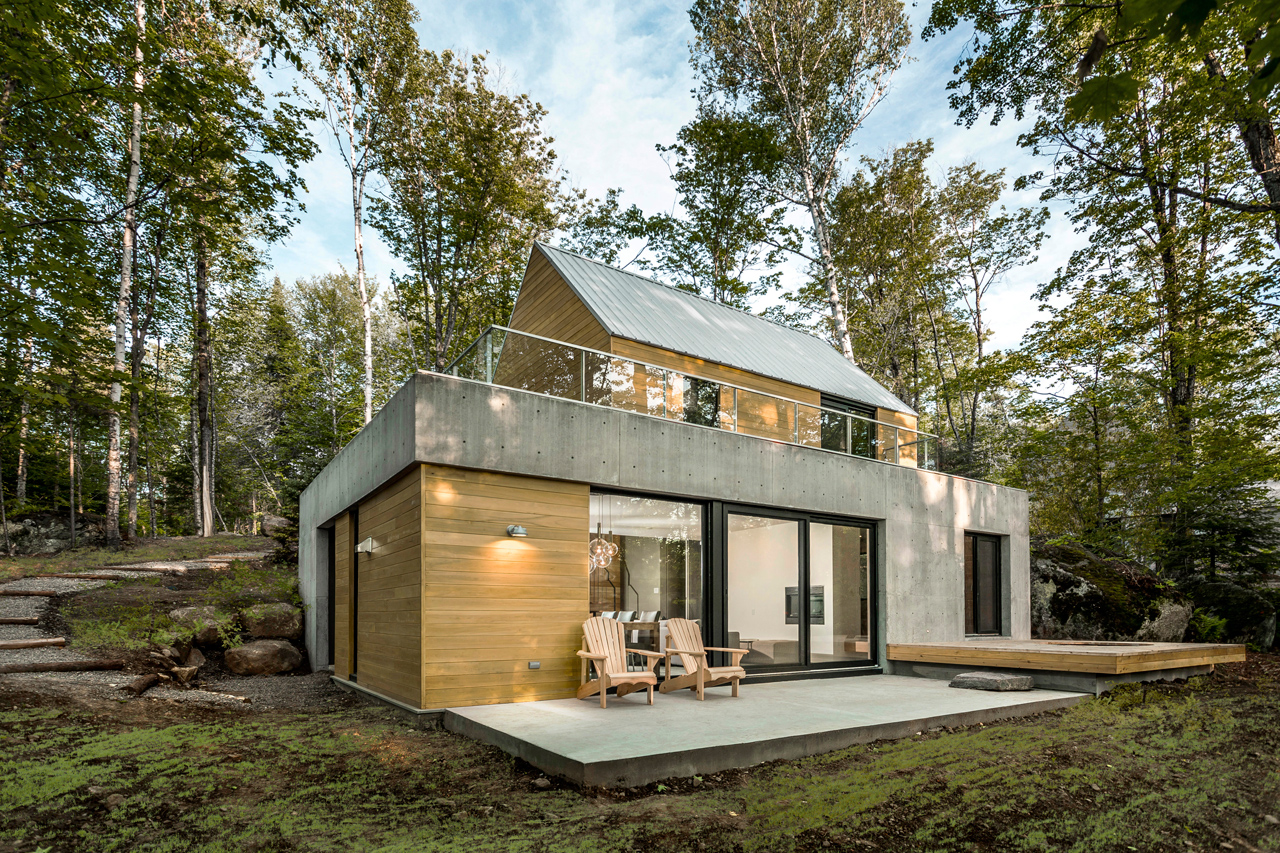 modern house in nature
