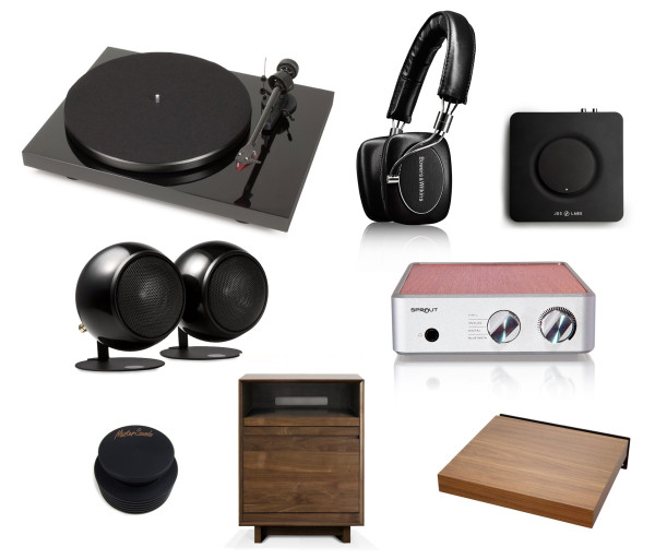 Current and future planned components of a new turntable system with design considered equal to audio performance.