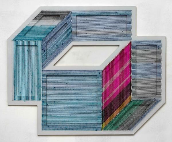 adrian-esparza-sarape-1  The Geometric Installations of Adrian Esparza adrian esparza sarape 1 600x496