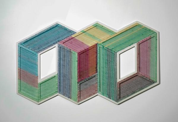 The Geometric Installations of Adrian Esparza  The Geometric Installations of Adrian Esparza adrian esparza sarape 4 600x411