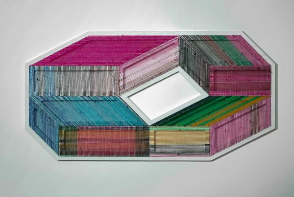adrian-esparza-sarape-5  The Geometric Installations of Adrian Esparza adrian esparza sarape 5 600x403
