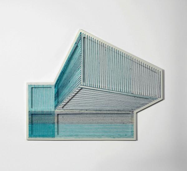 adrian-esparza-sarape-6  The Geometric Installations of Adrian Esparza adrian esparza sarape 6 600x549