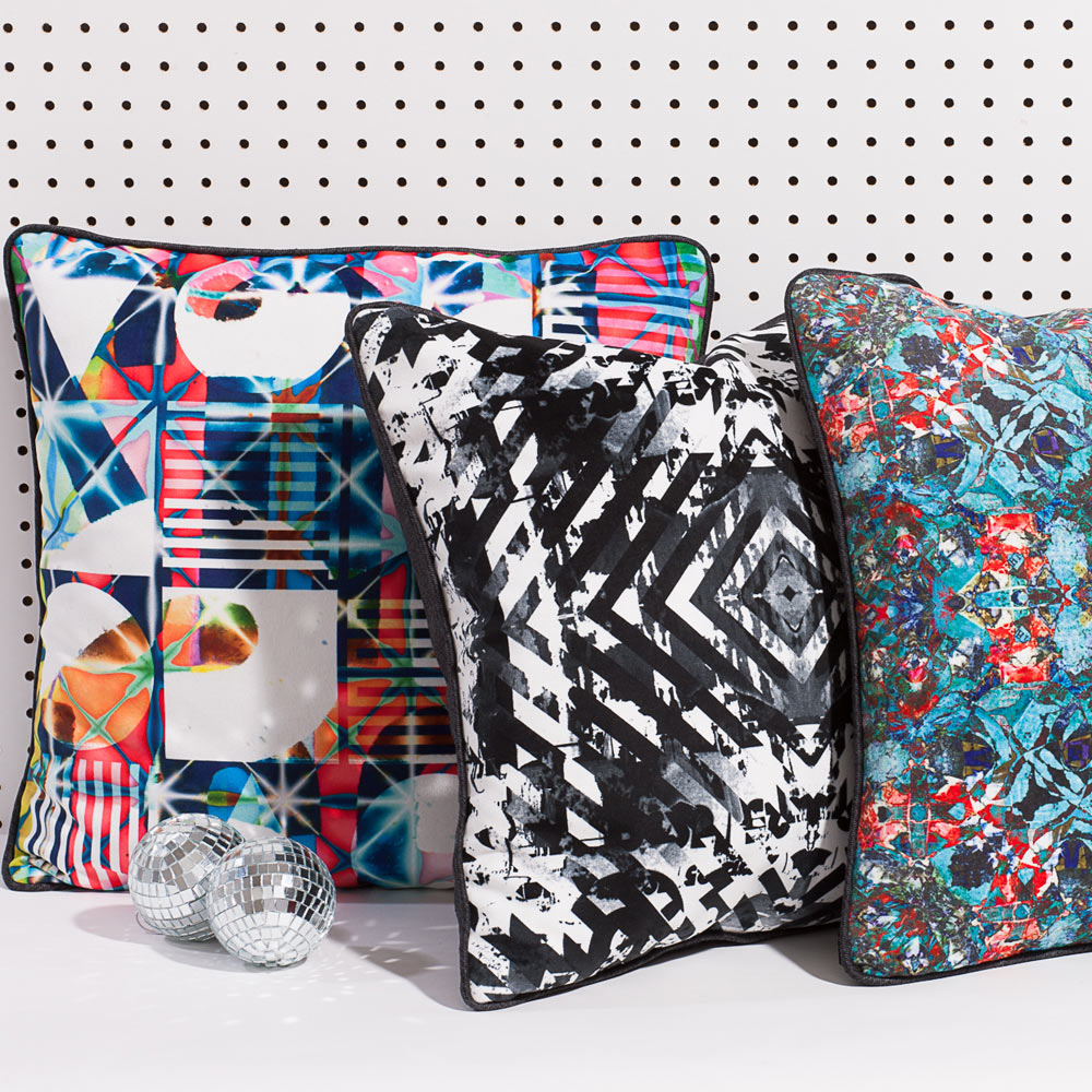 Artifact Pillows Inspired by Graffiti and Torn Posters