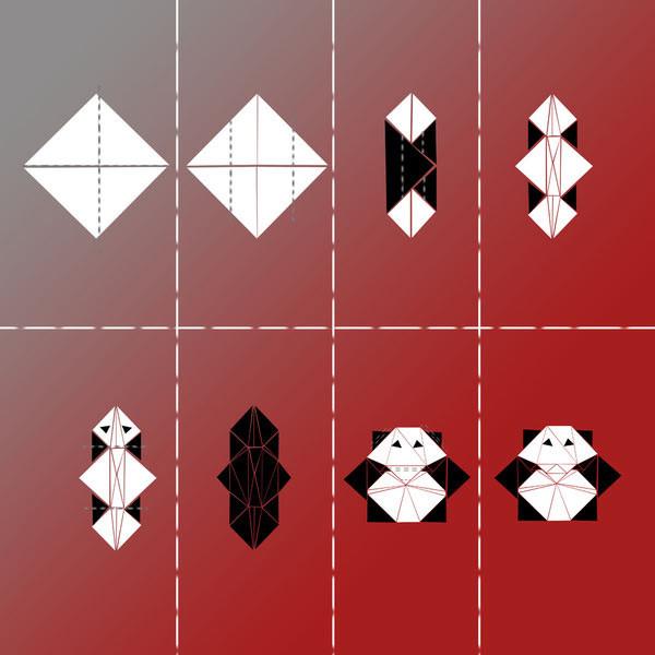 panda-origami-print