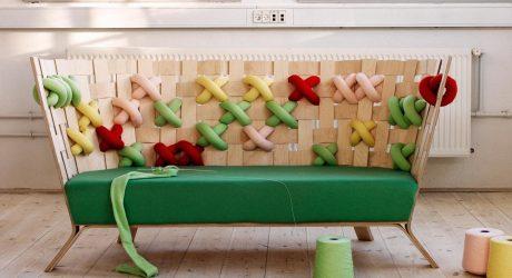 Giant Cross-Stitch Furniture by Ellinor Ericsson