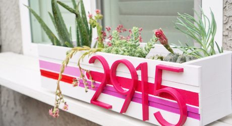 DIY Modern Address Planter