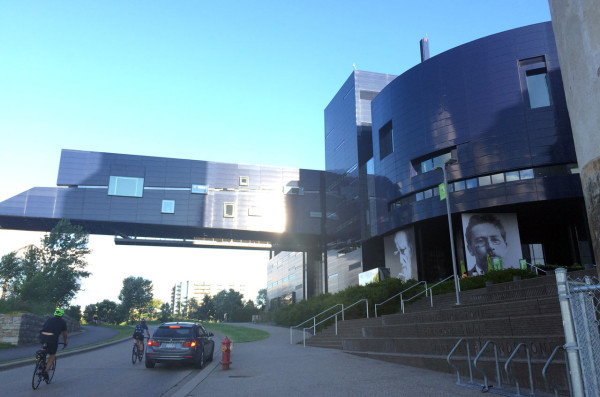 Guthrie Theater with cantilever bridge
