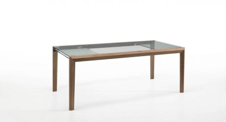 Extendable Glass Table by Nisco for Tonelli Design
