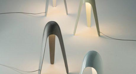 Cyborg Lamp by Karim Rashid for Martinelli Luce