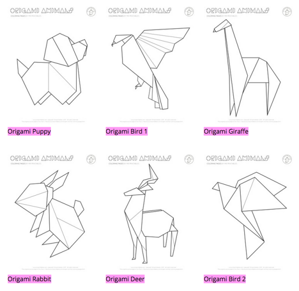Mr Printables Origami Animals