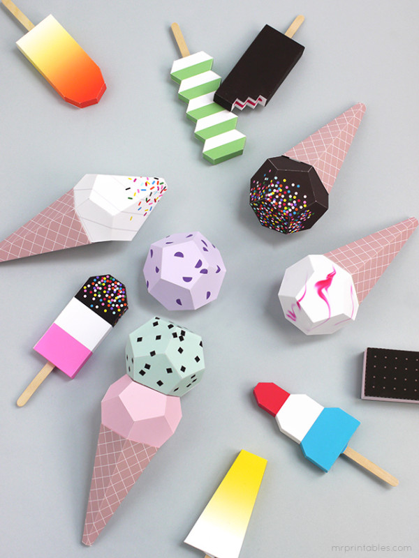 Mr Printables_paper ice cream 1