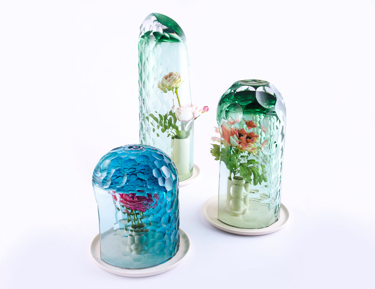 Glass Vases that Create Visual Distortions