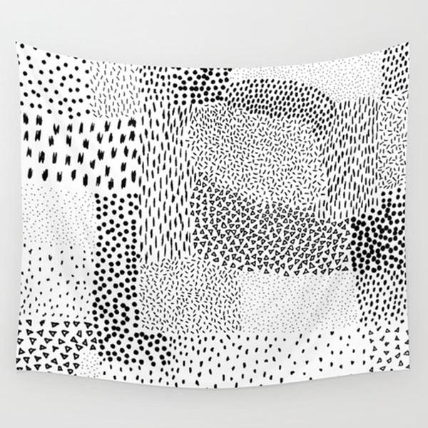 black-white-tapestry-wall-decor