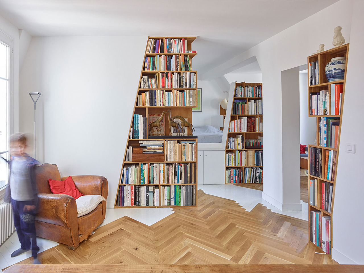 A Parisian Flat Designed for a Couple with Two Children