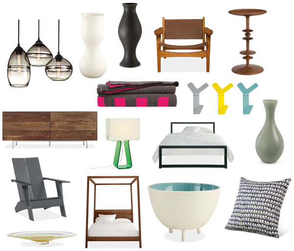 A selection of American Made products available at Room & Board