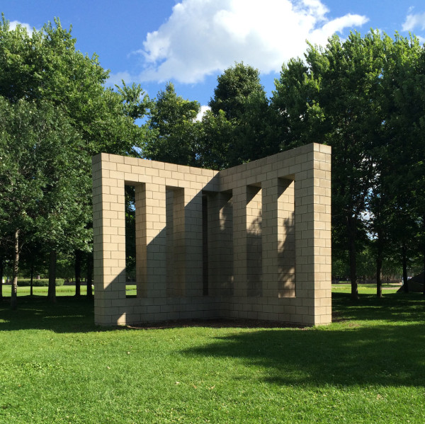 X with Columns by Sol LeWitt