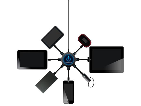7-Port USB Charging Station - ChargeHub