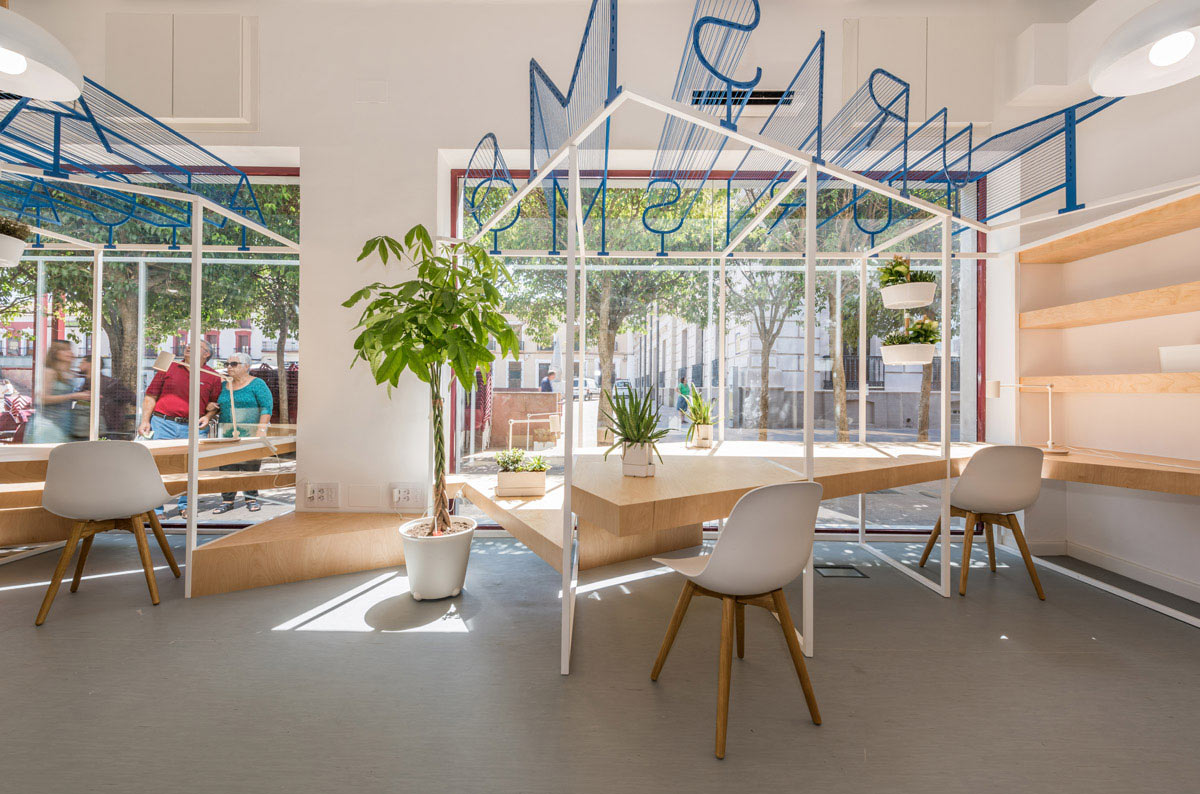 Captivating A Modern Tourist Office In Spain Featuring Cool Graphic Typography