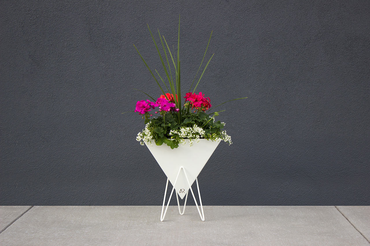 Bermuda: A Pyramid-Shaped Planter by Adam Raiola