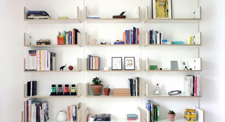 A Minimal, Modular Shelving System by Ben Couture