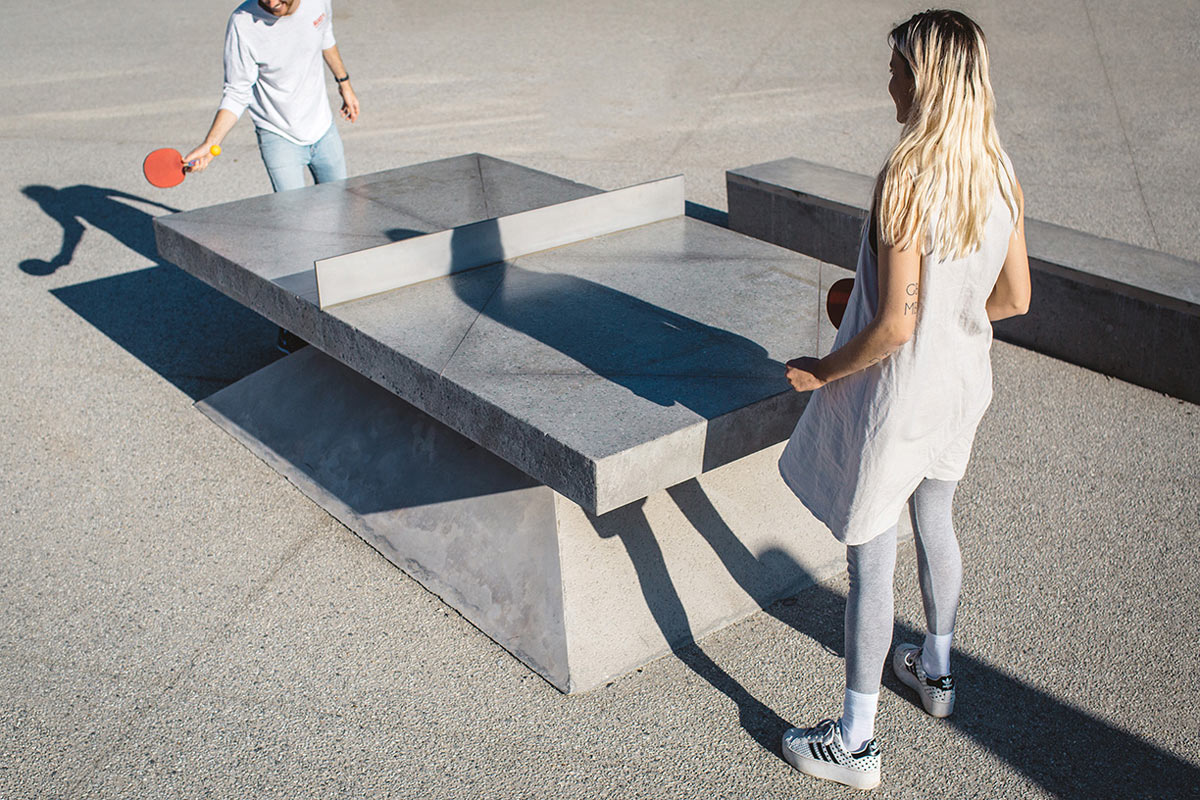 Monoliths: Concrete Ping Pong Tables & Benches