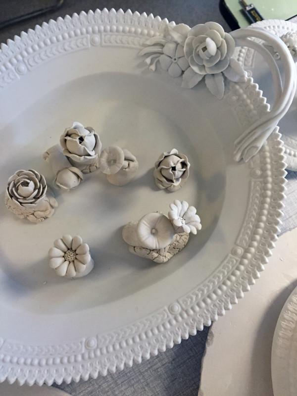 Sculpted flowers
