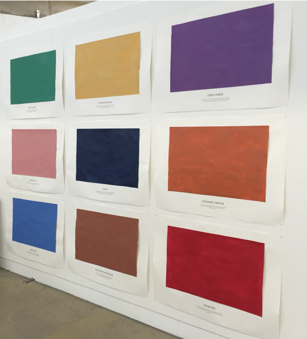 Artist Tal R's paint swatches of his new Series 7 colors