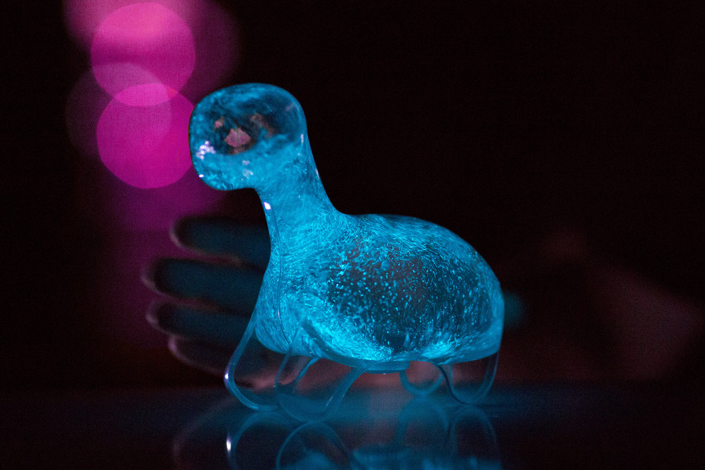 A Bioluminescent Pet Glows Bright With a Shake