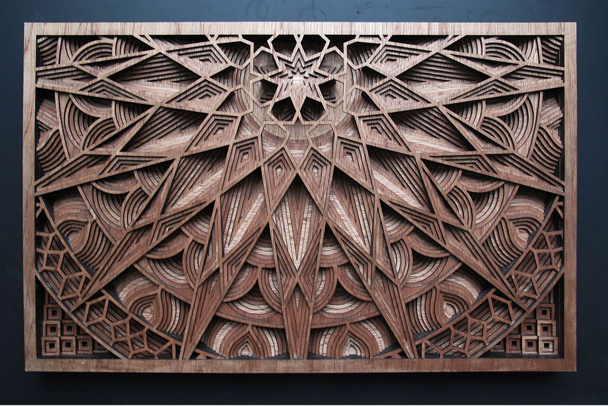 The Jaw-Dropping Laser-Cut Wood Art of Gabriel Schama