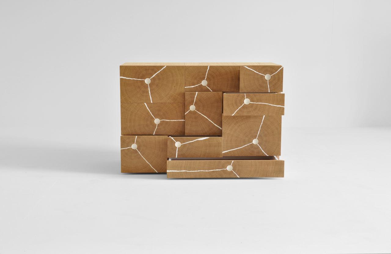 Log Stack Cabinet by Byron & Gómez