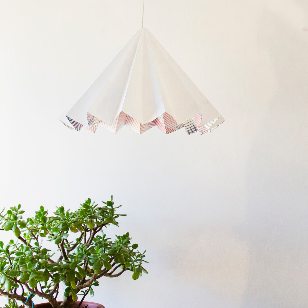 A Folded Lamp That Looks Good Day or Night