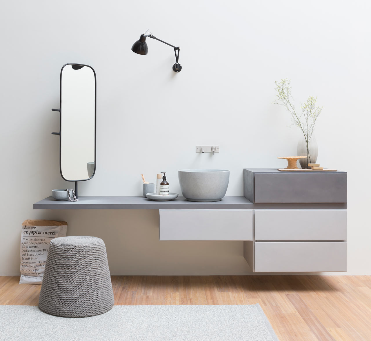 Modular Units for a Modern Bathroom - Design Milk