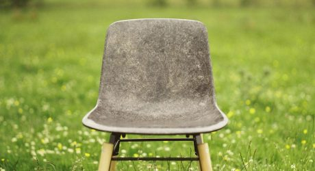 A Solid Chair and Table Made from Wool
