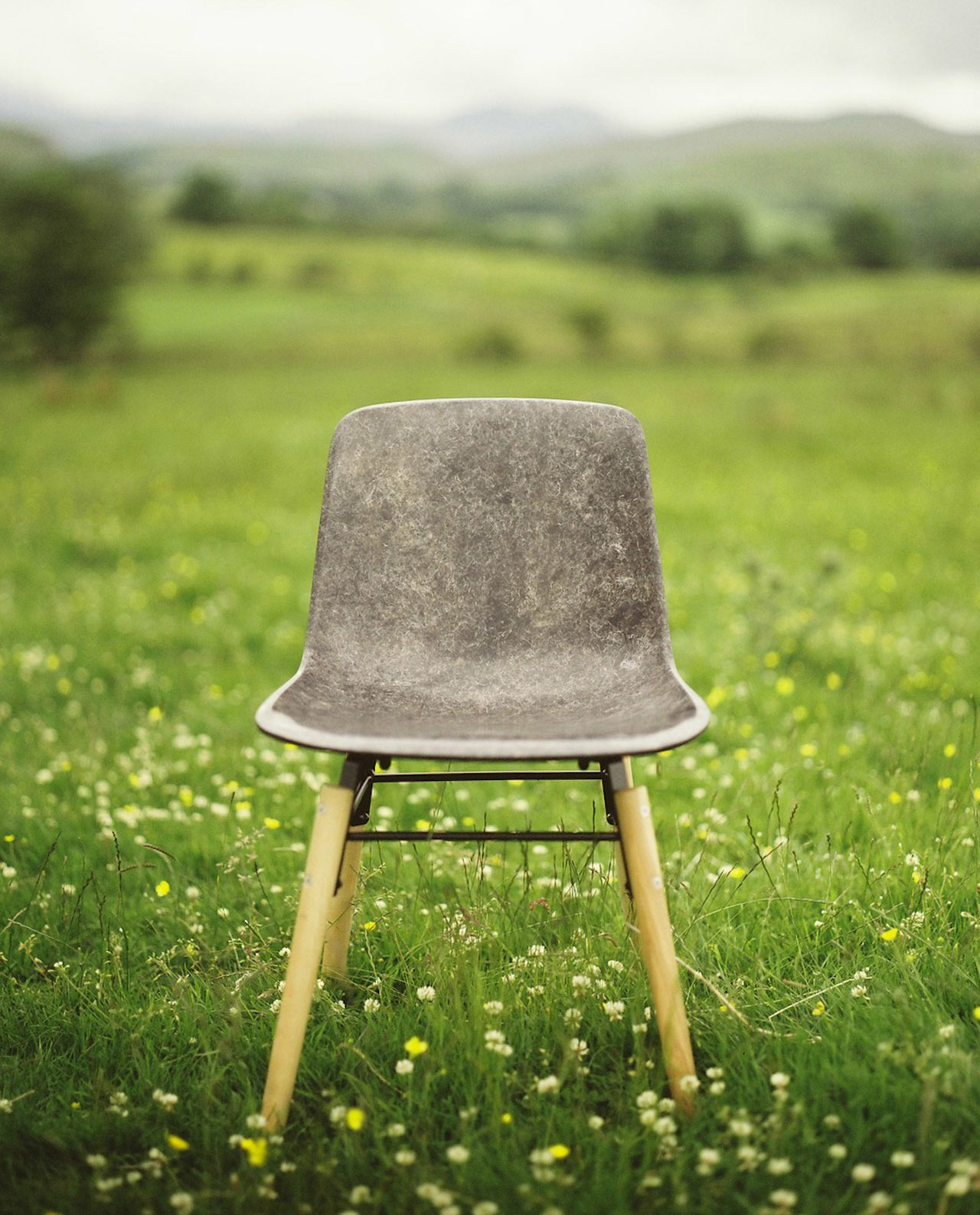 Solidwool Chair Herdwick Wool Outside