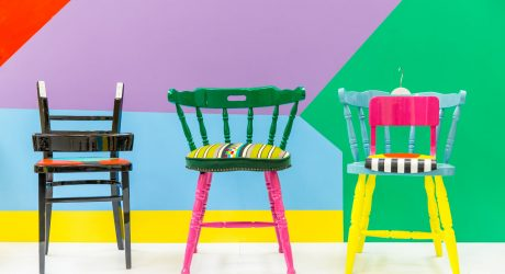 Upcycled Chairs Inspired by Traditional Nigerian Parables & African Fabrics