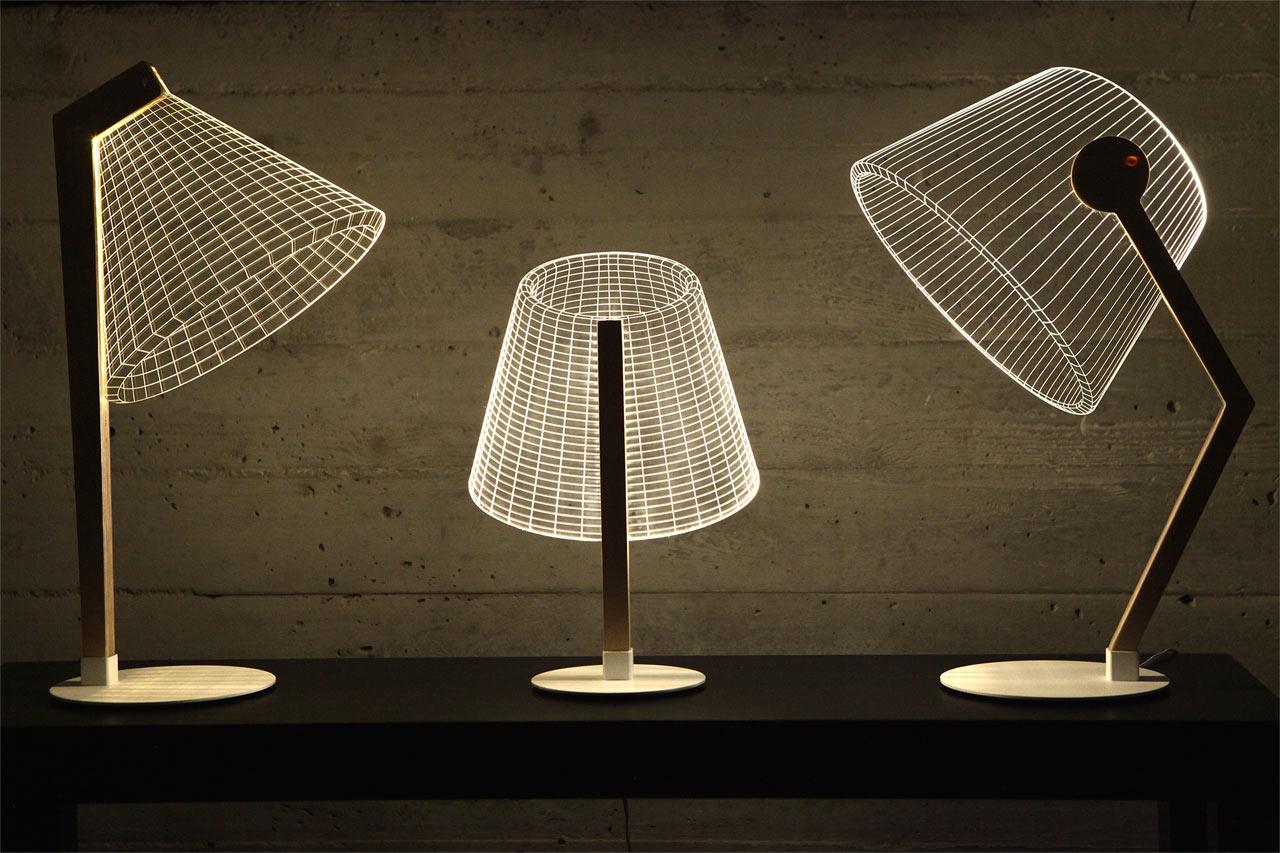 Modern Optical Illusion Lamps by Studio Cheha - Design Milk