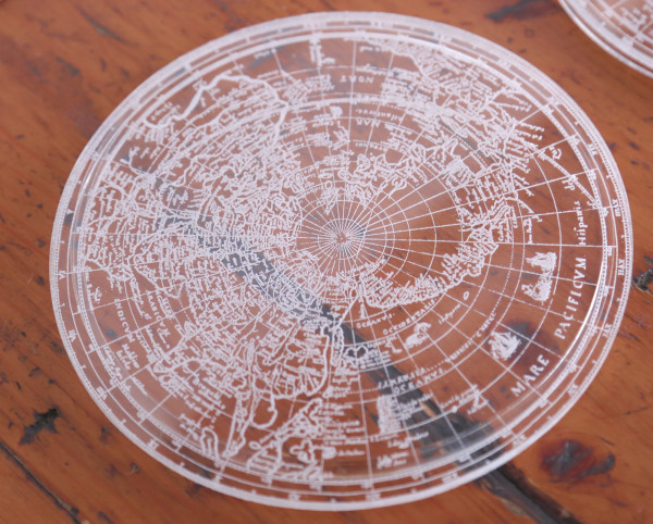 Glowforge acrylic coaster map