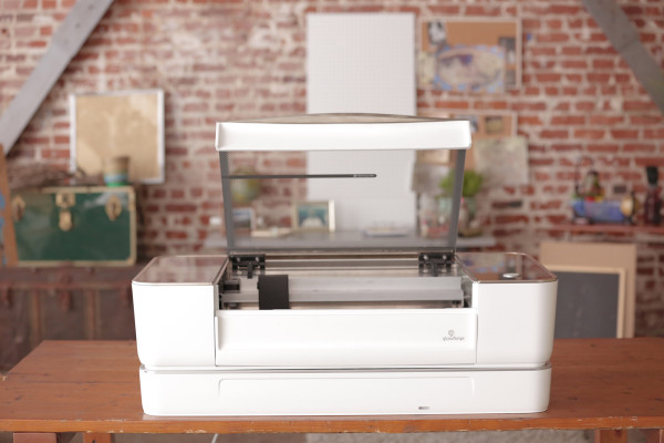 Glowforge with optional Air Filter open